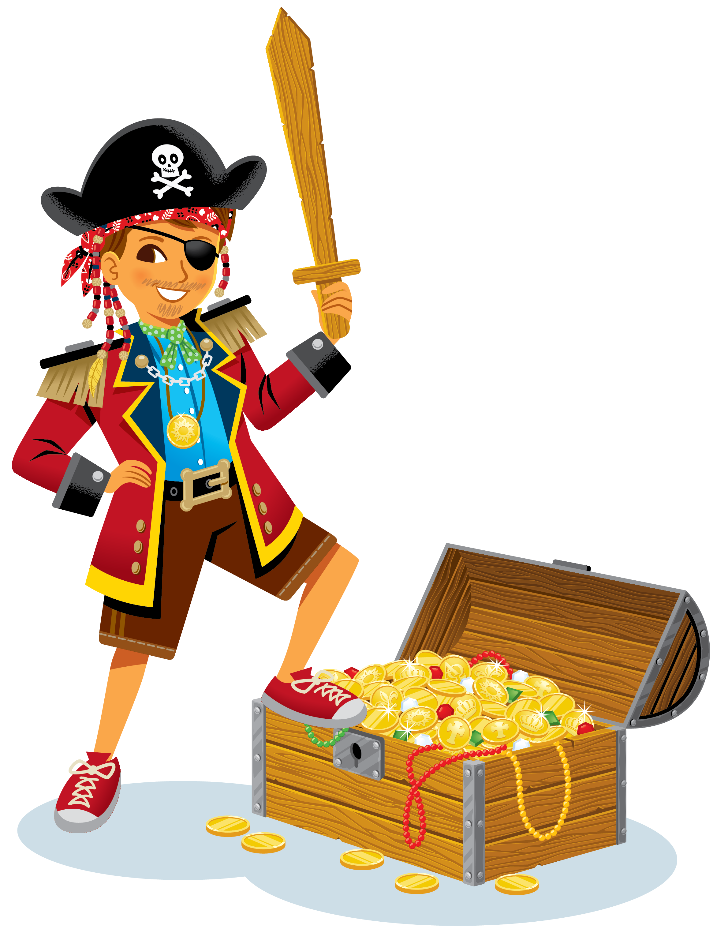 Pirate Costume with Treasure Chest