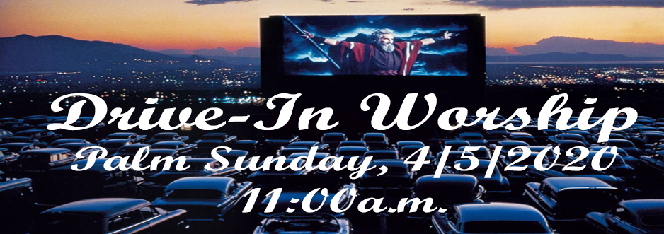 drive in for Palm Sunday 938w