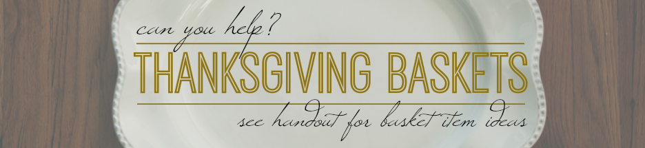 Thanksgiving Baskets 2018 banner