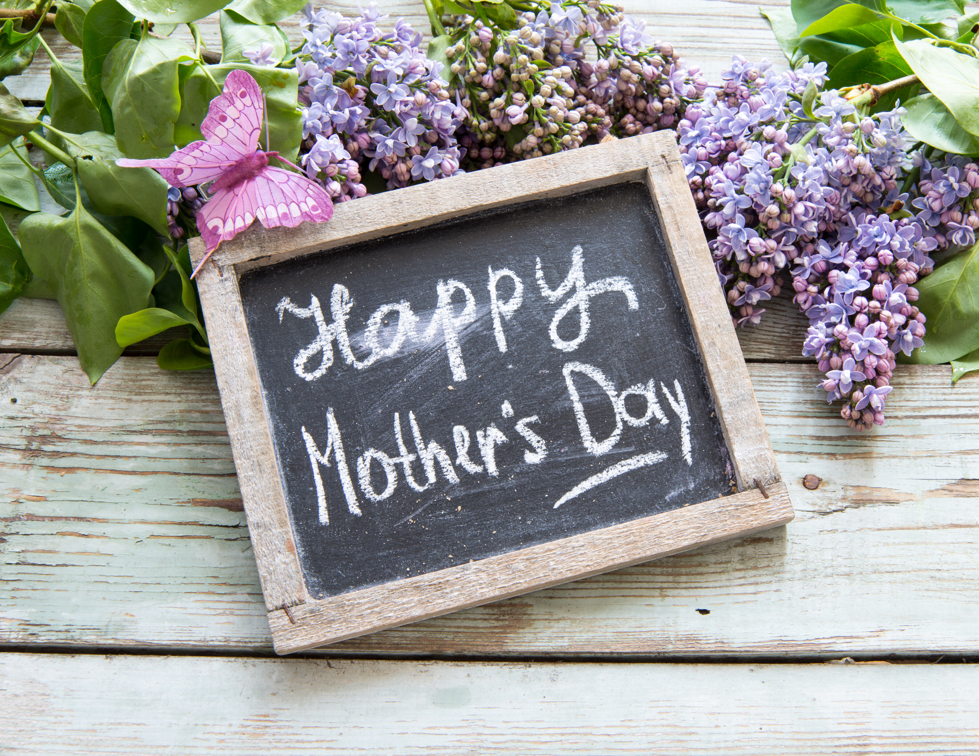Happy Mother's Day (slate & lilacs) image