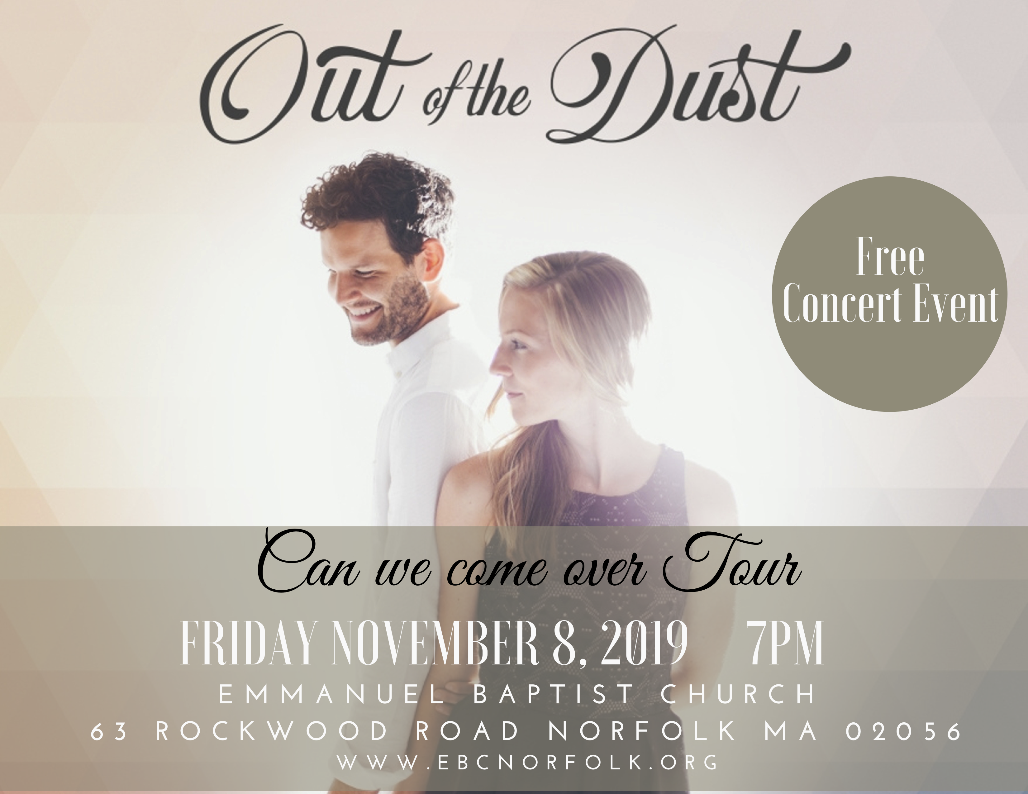 Out of the Dust concert (2019-11-08) graphic (hi-res) image