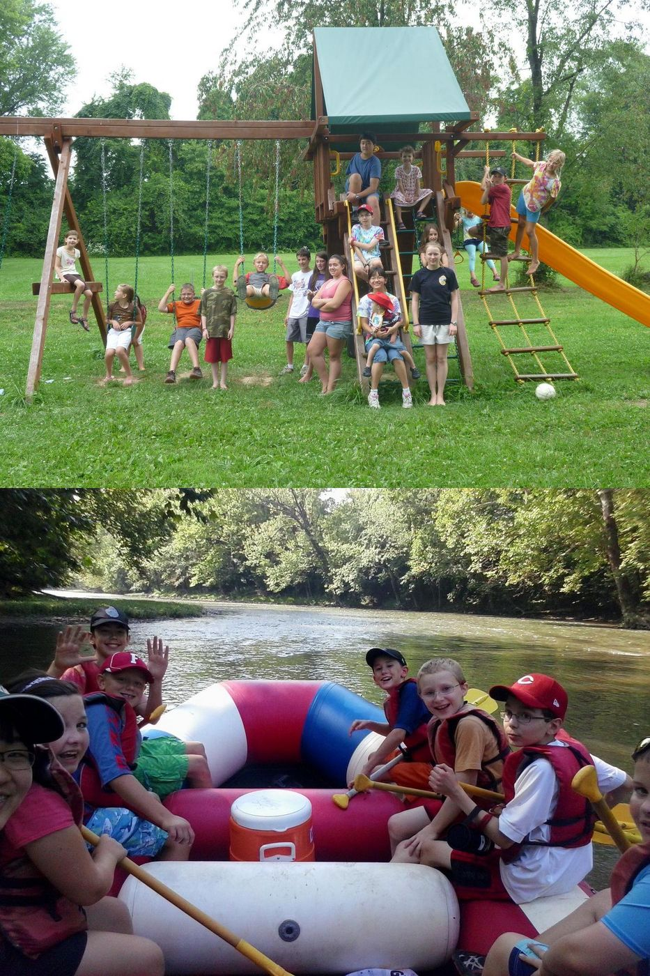 Resident Camp photo collage