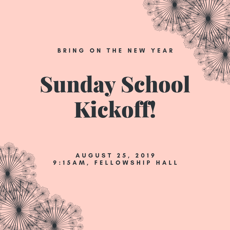 Sunday School Kickoff!