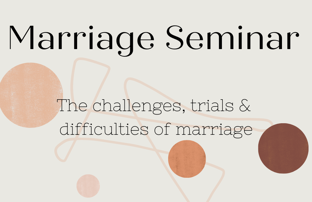 2021 Marriage Seminar banner