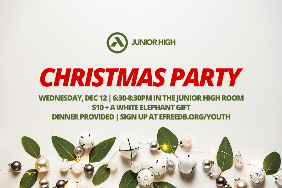 junior high christmas partyFB image