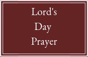 Lord's Day Prayer image