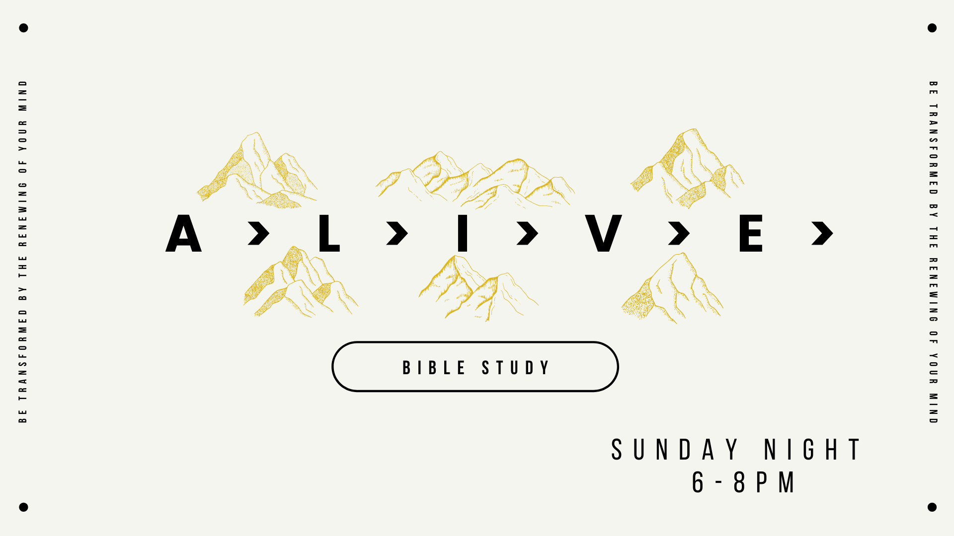 ALIVE Youth Bible Study