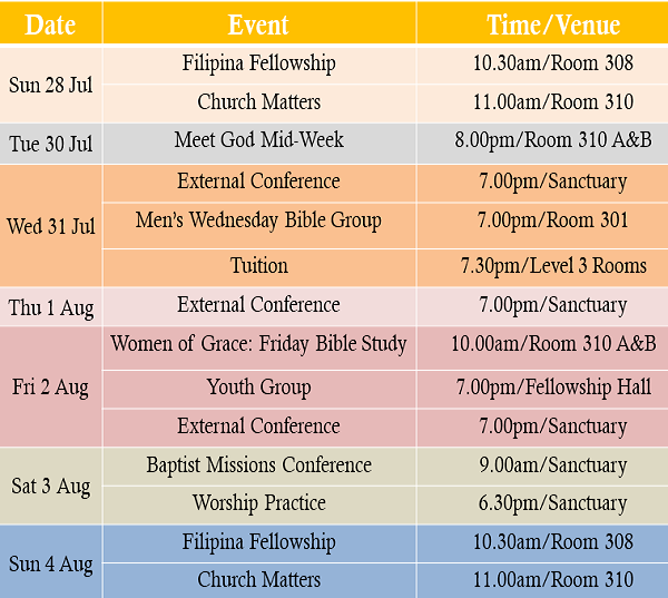 Events 280719