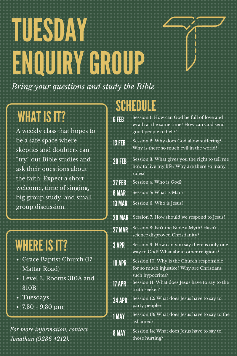 Tuesday Enquiry poster