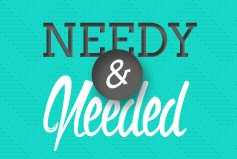 Needy and Needed banner