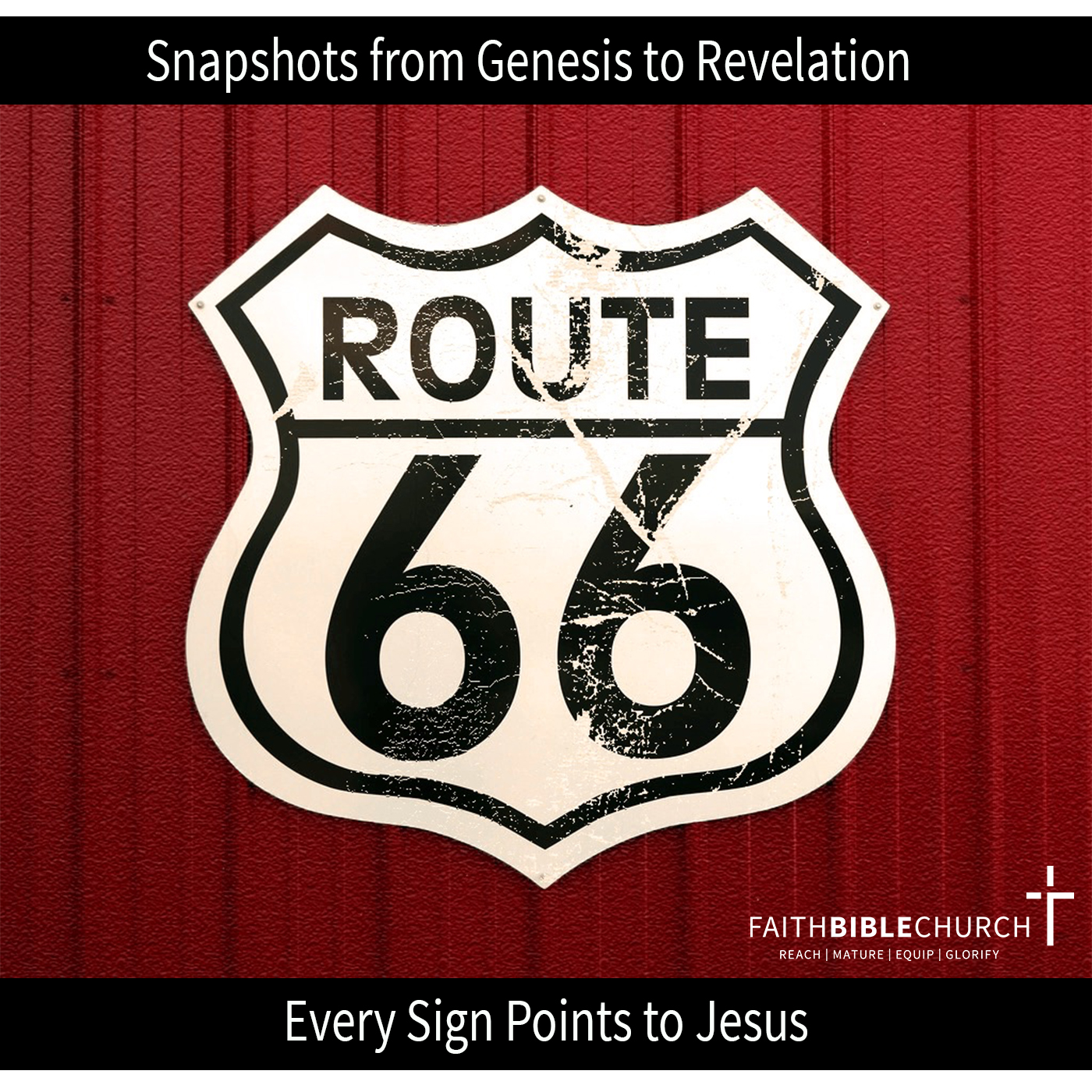 Route 66: All Signs Point To Jesus banner