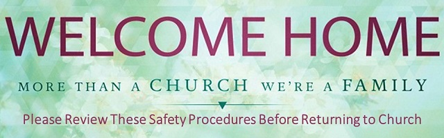 Welcome Home Back to Church Page Banner