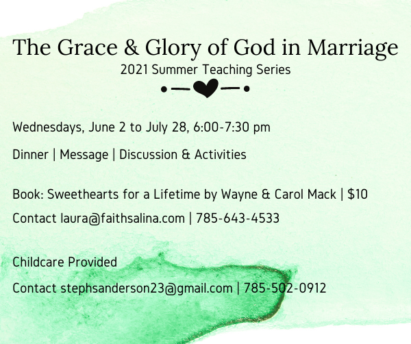 The Grace & Glory of God in Marriage ENEWS 5.16