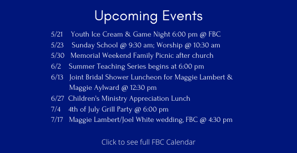 Upcoming Events ENEWS 5.21