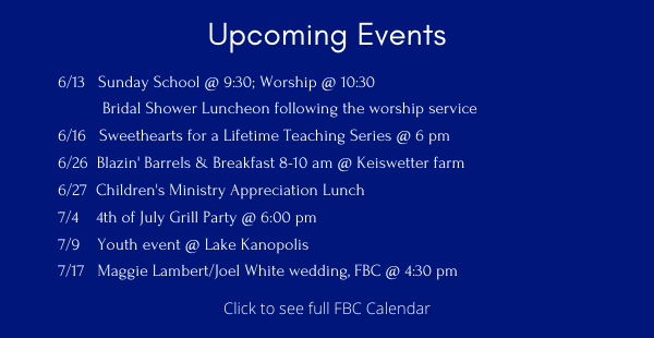 Upcoming Events ENEWS 6.11