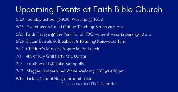 Upcoming Events ENEWS 6.18 2