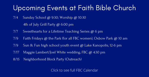 Upcoming Events ENEWS 7.2
