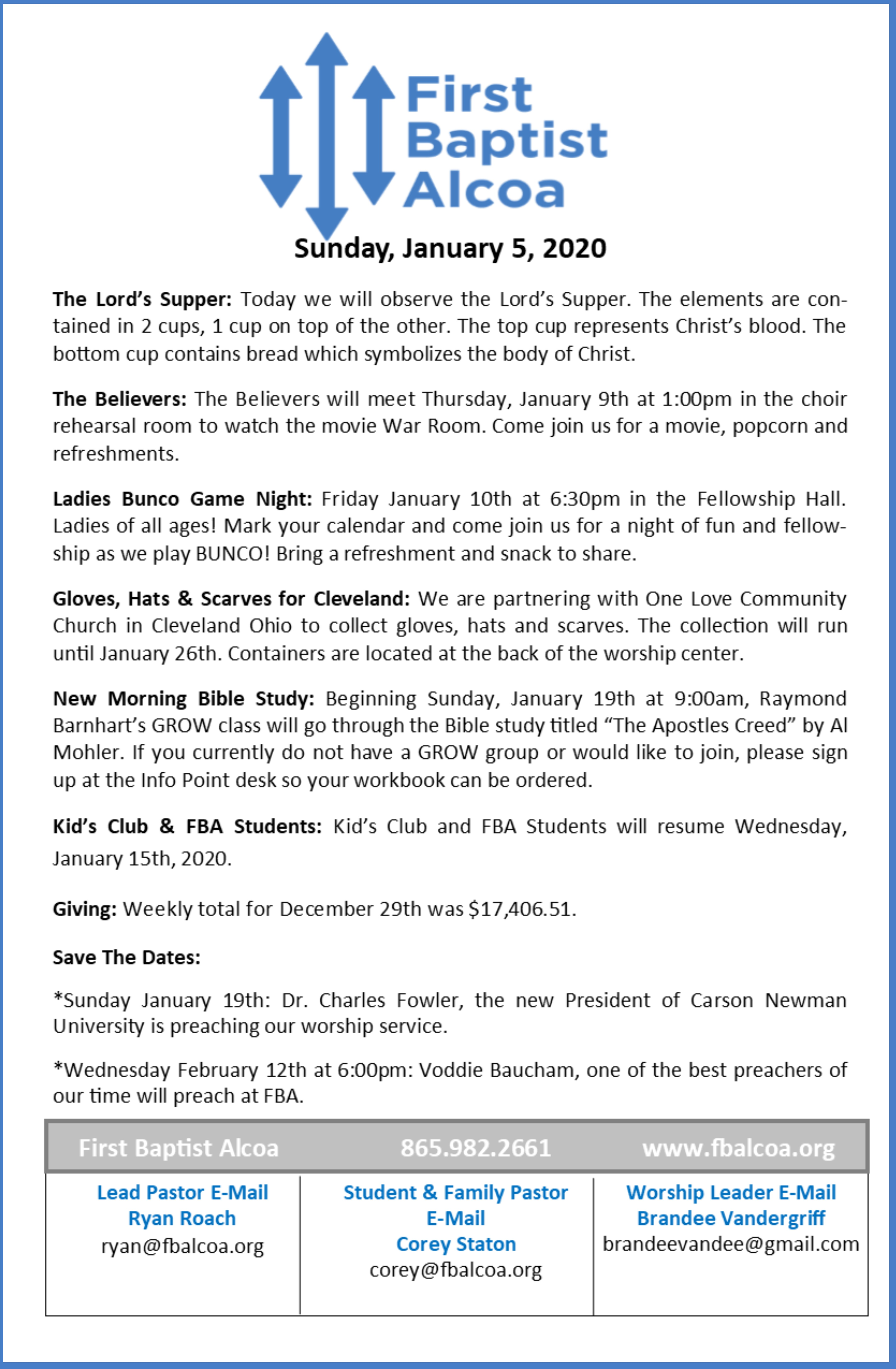 Bulletin Design Jan 5
