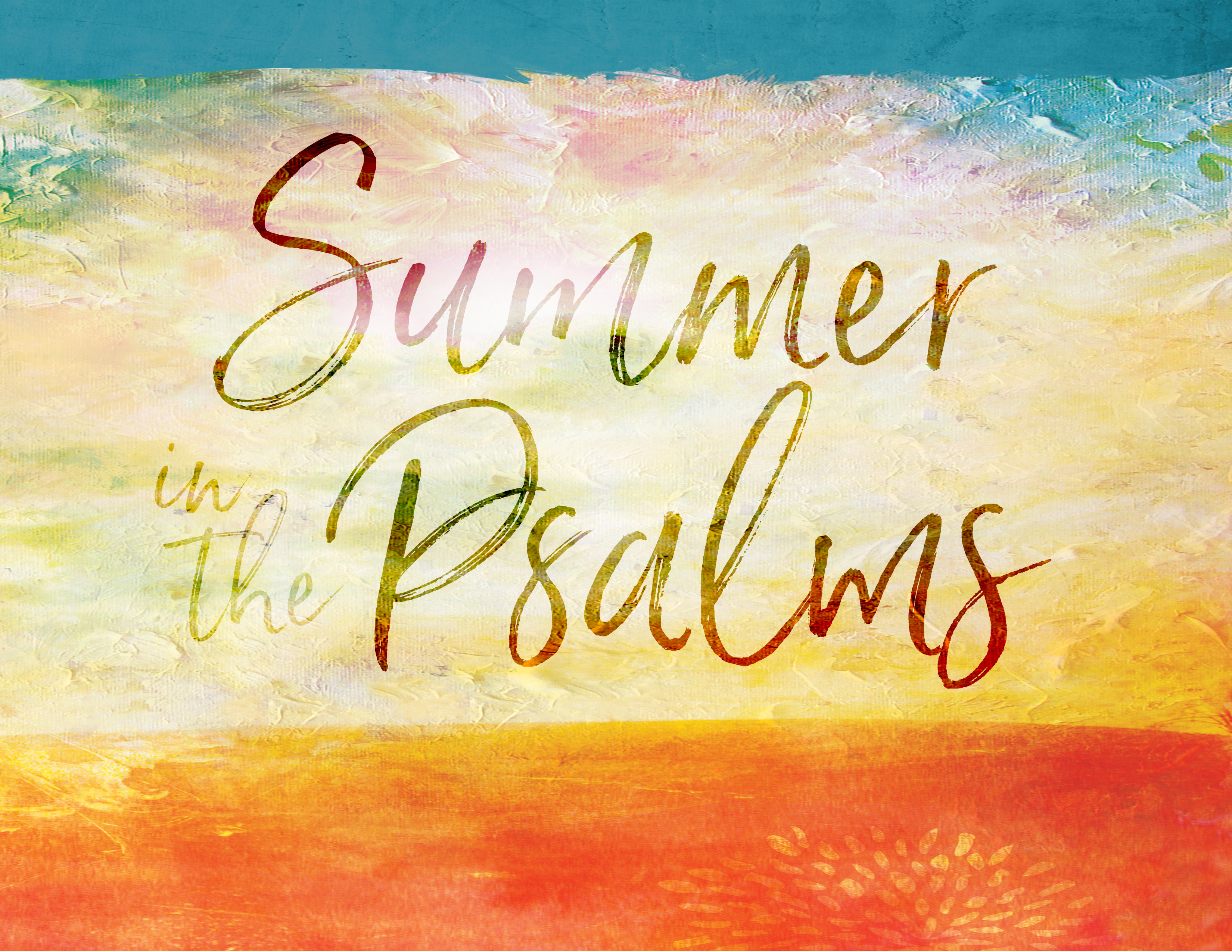 Summer in the Psalms 2018 banner