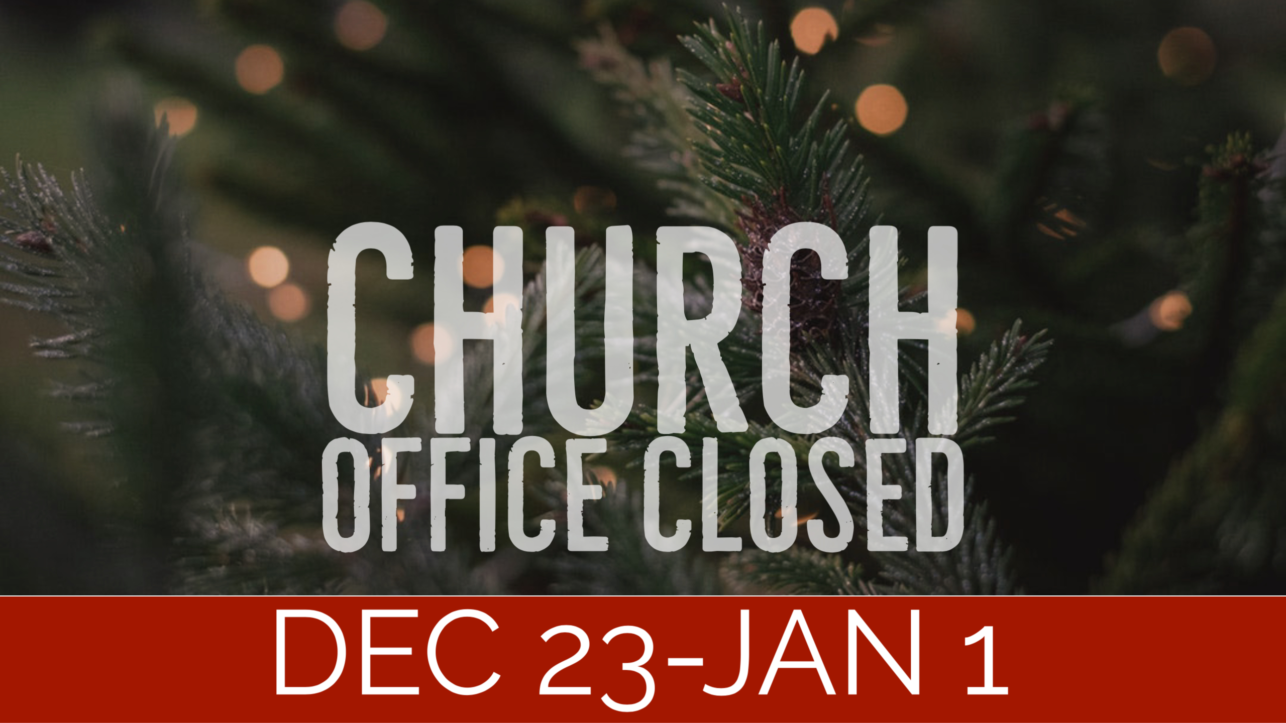 Closed Christmas image