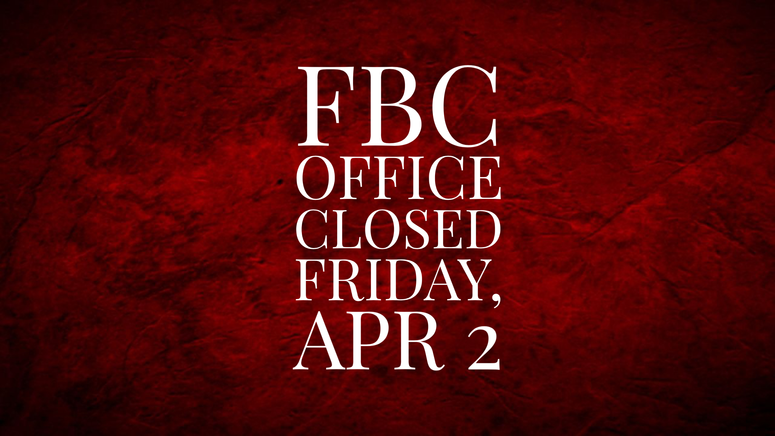 Closed Good Fri image