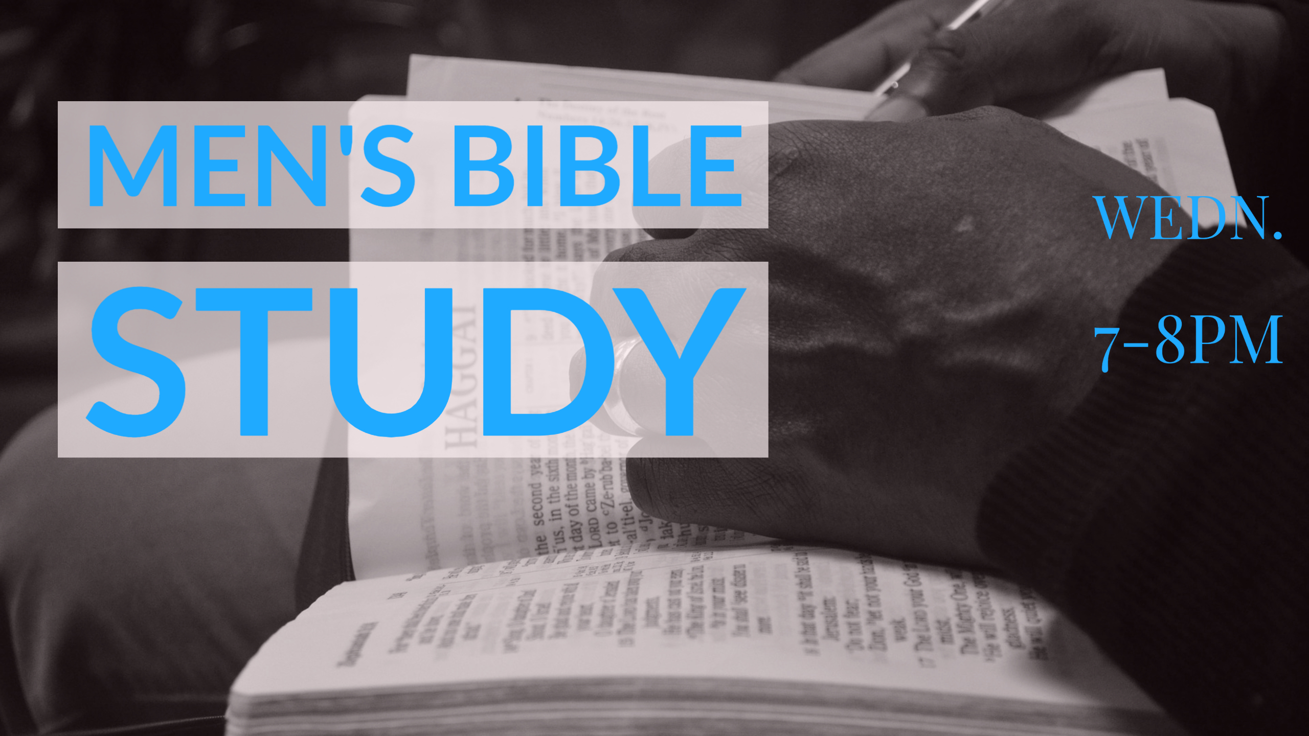Men's Bible Study Wed image