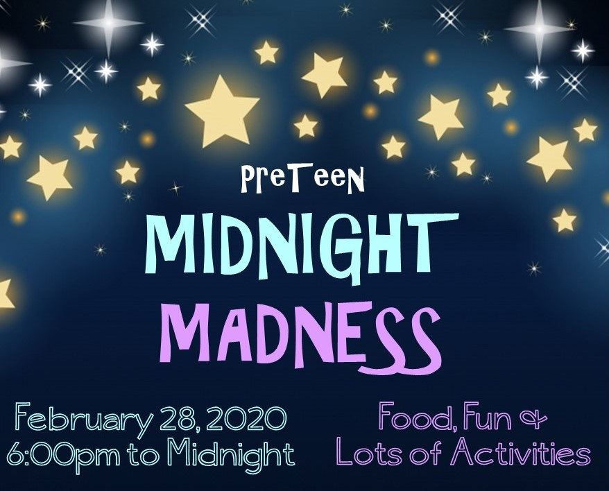 Midnight Maddness New Date Graphic