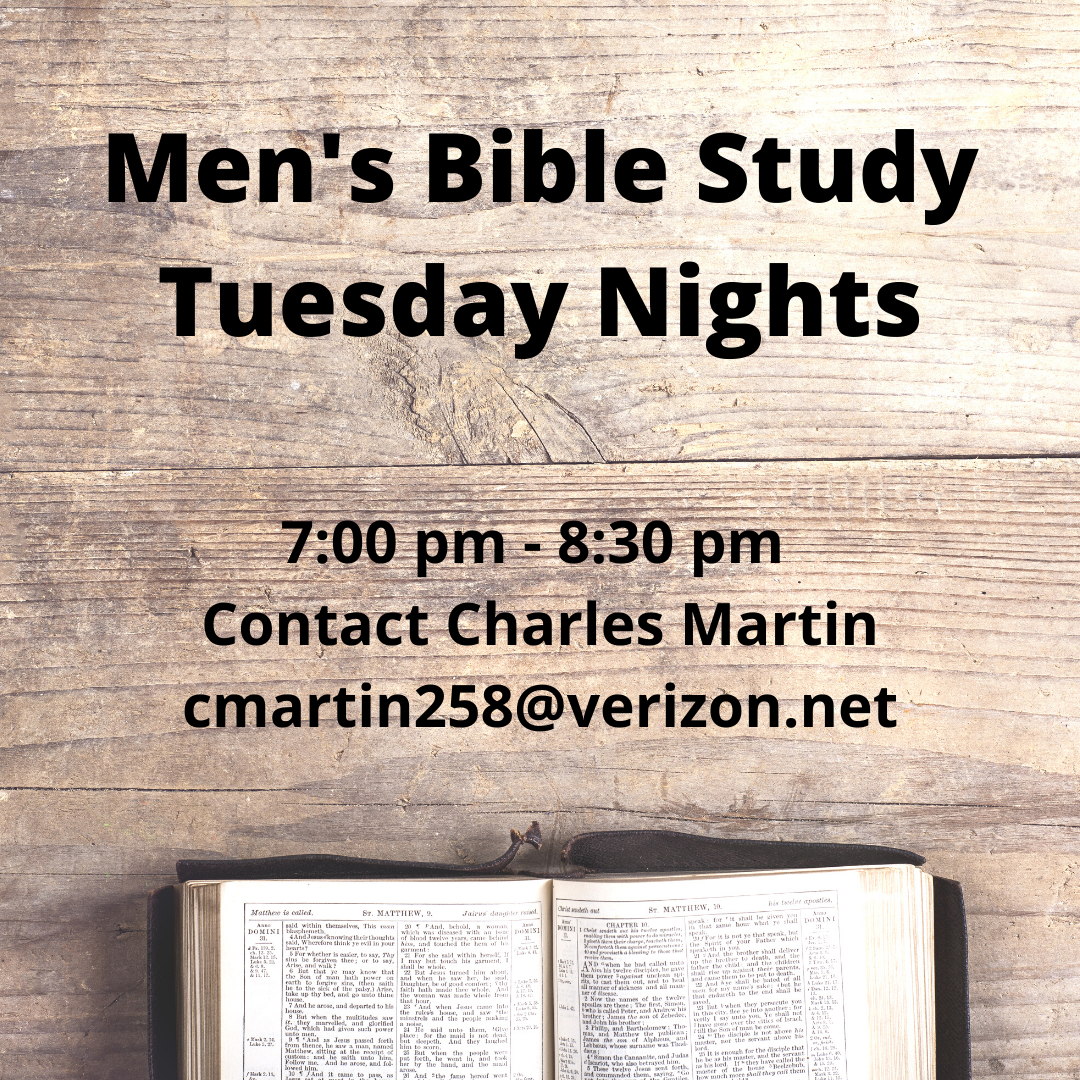 Men's Bible Study Tuesday Nights
