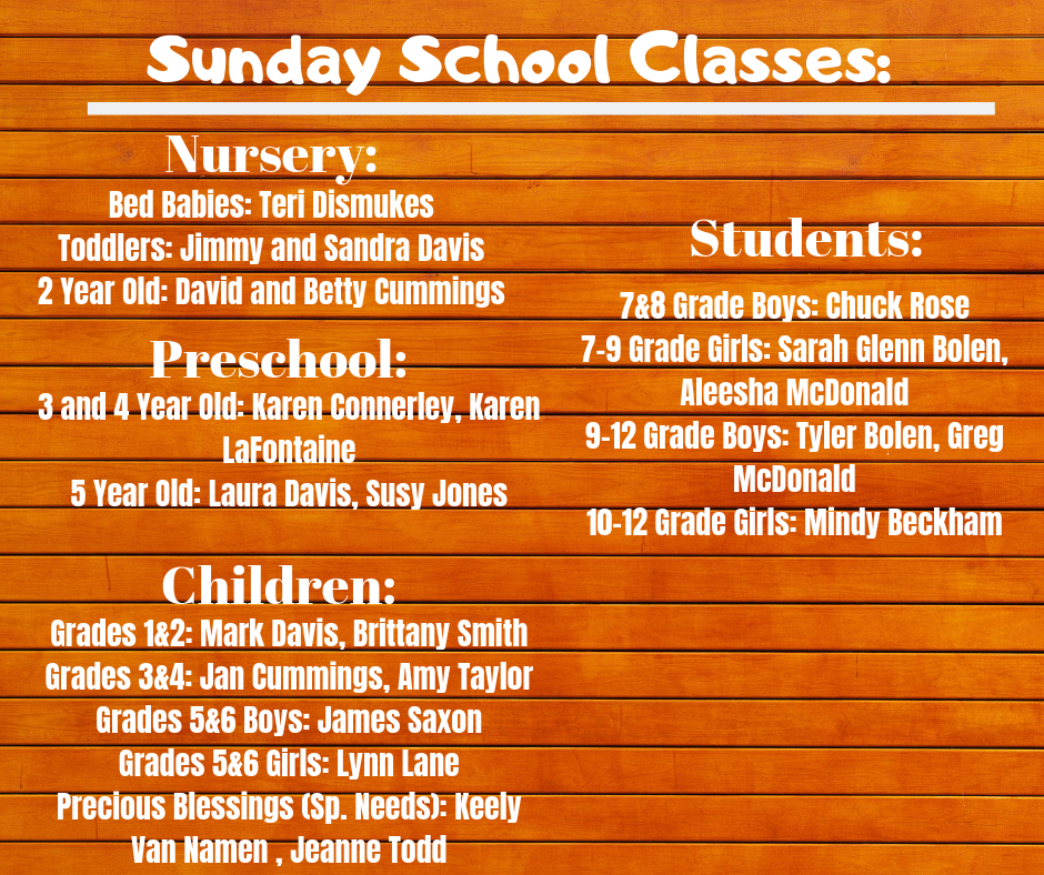 2019 Sunday School Classes pt. 3_