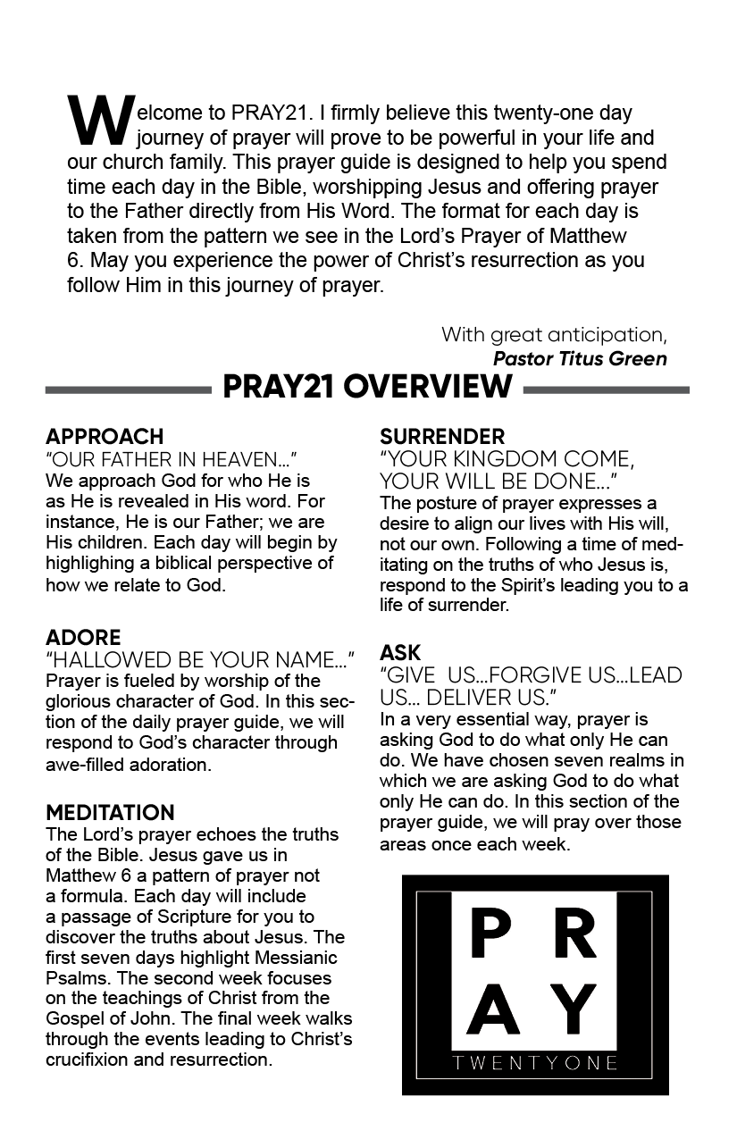 Pray21 2021 Overview