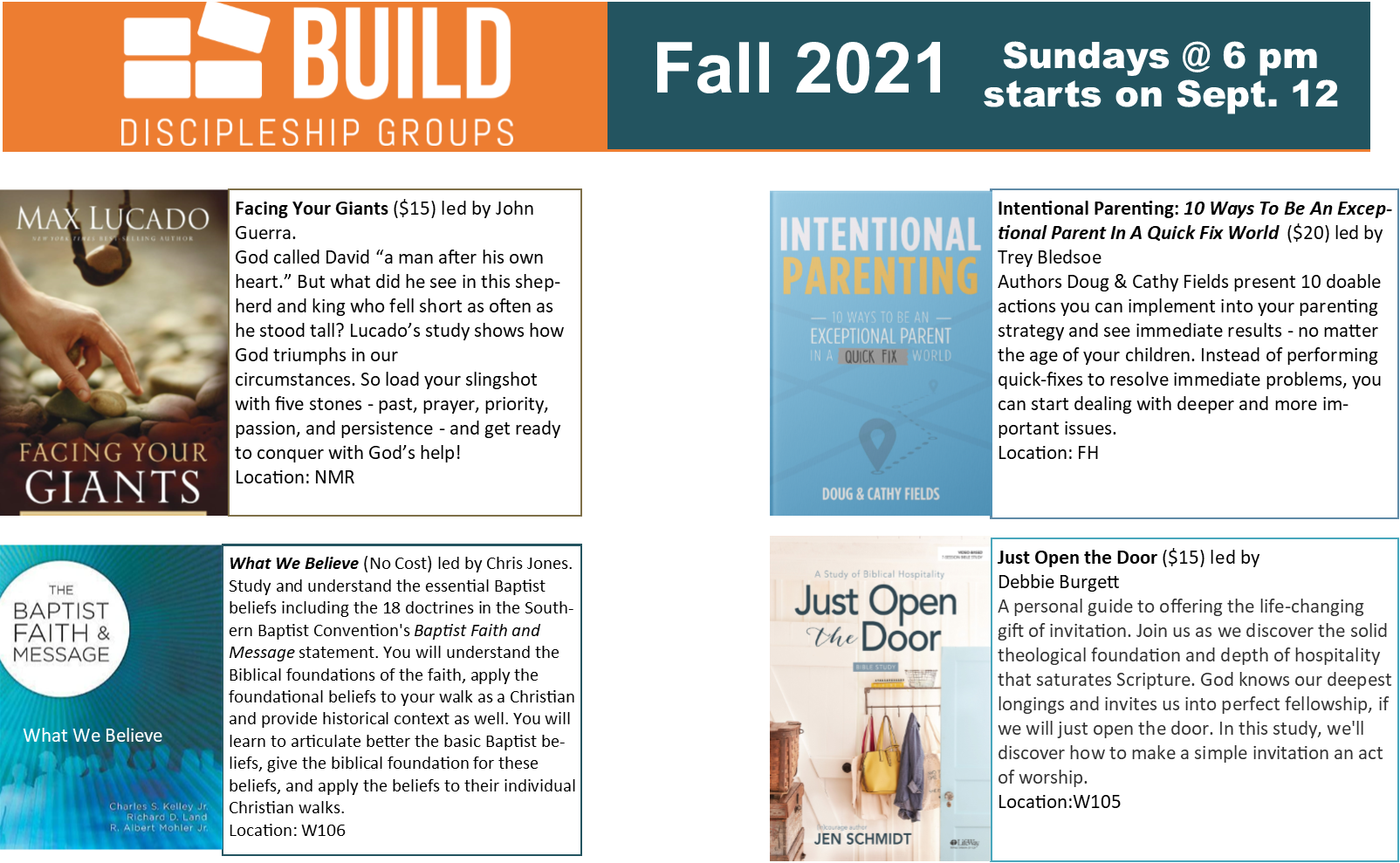 BUILD 2021 Fall Adult class for page minus grant