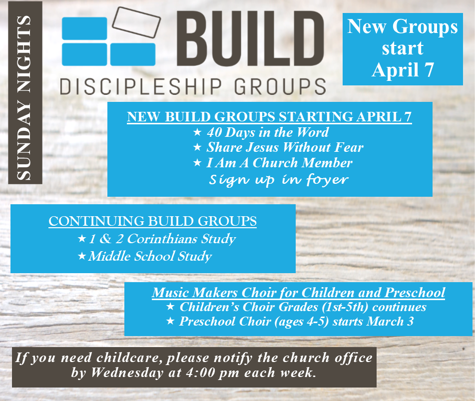 Build Groups April 7 for website page 2019