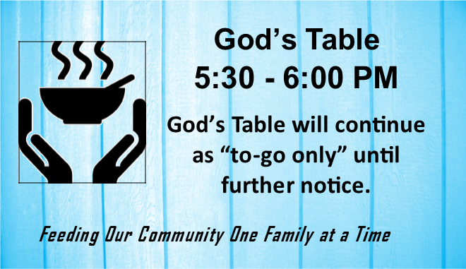 God's table until 600 rotator blue