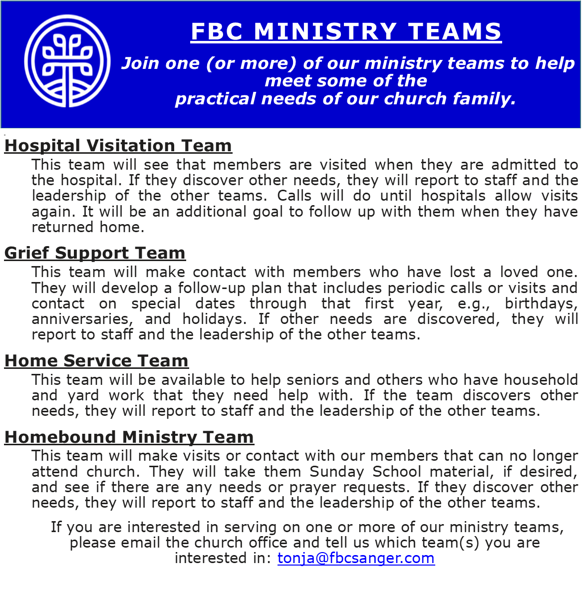 Ministry Teams 2021 new website page 2