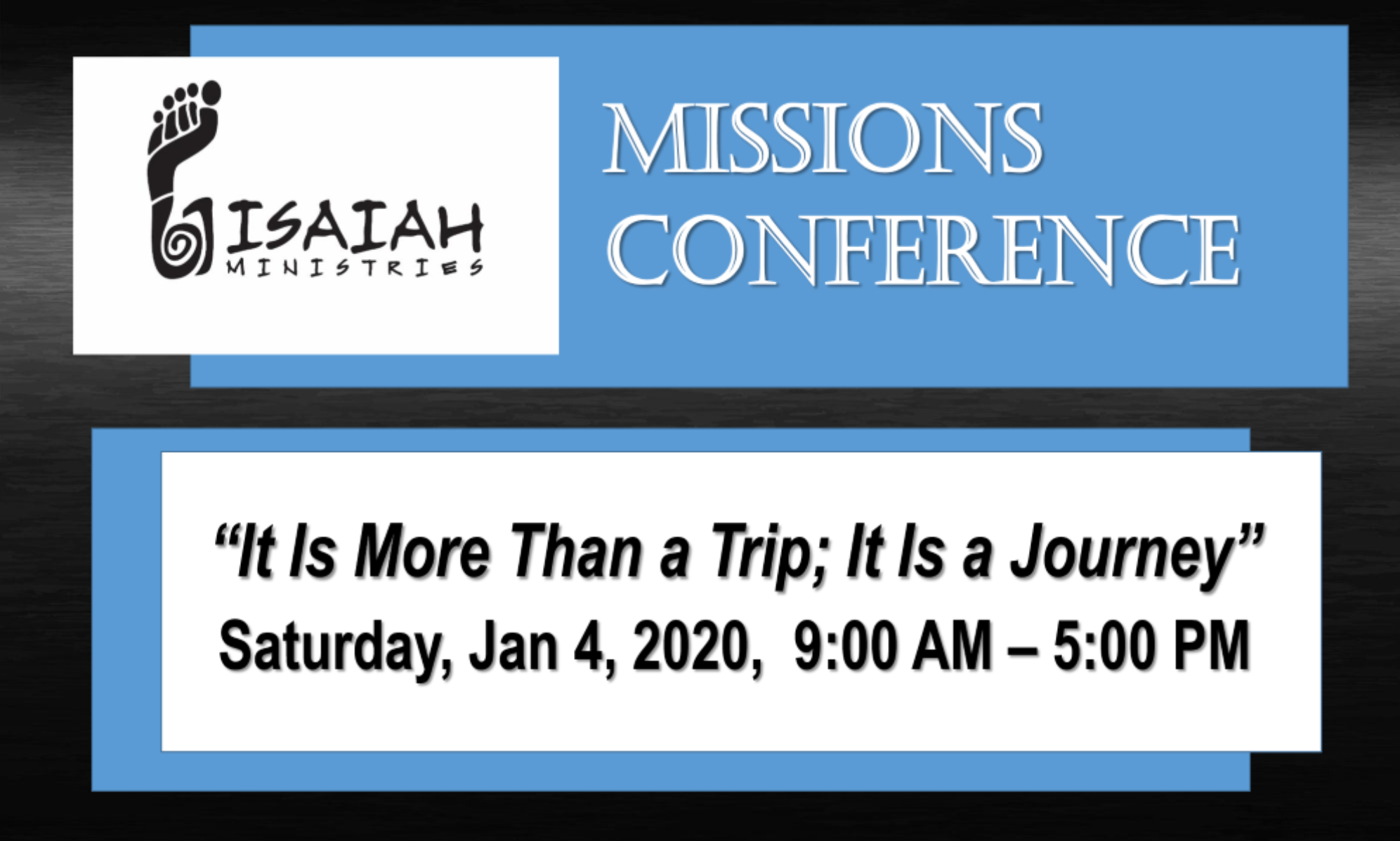 Missions conference Jan 4 rotator