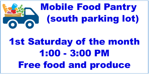 Mobile Food Pantry new time