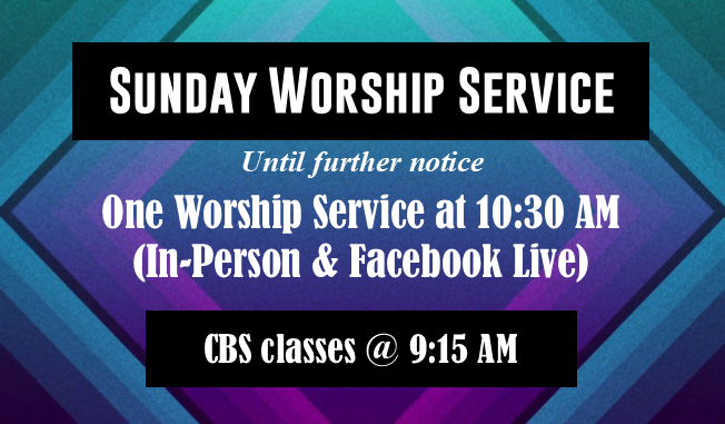 one service Jan 2021 untill further notice