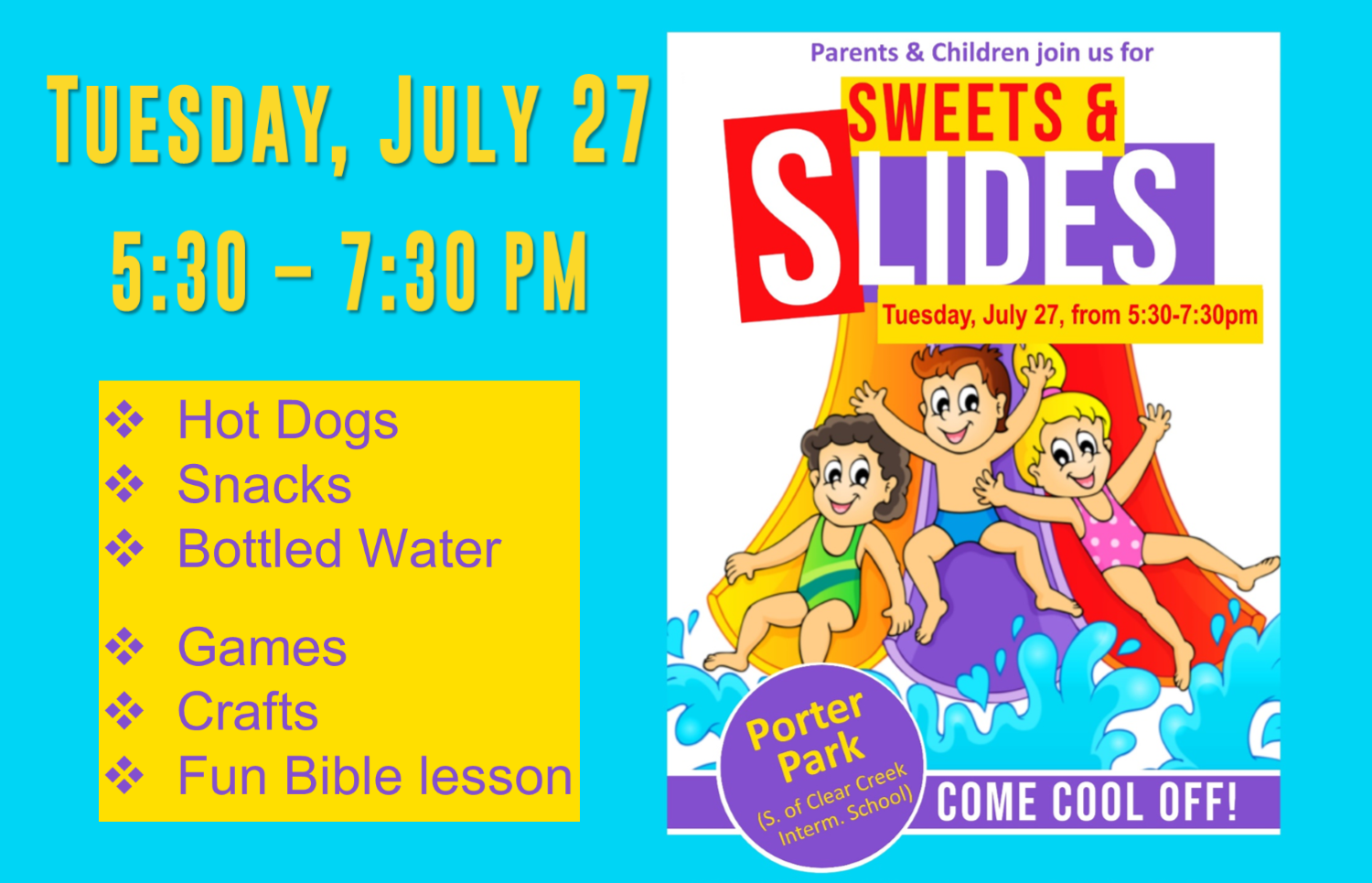 Sweets and Slides July 2021 rotator