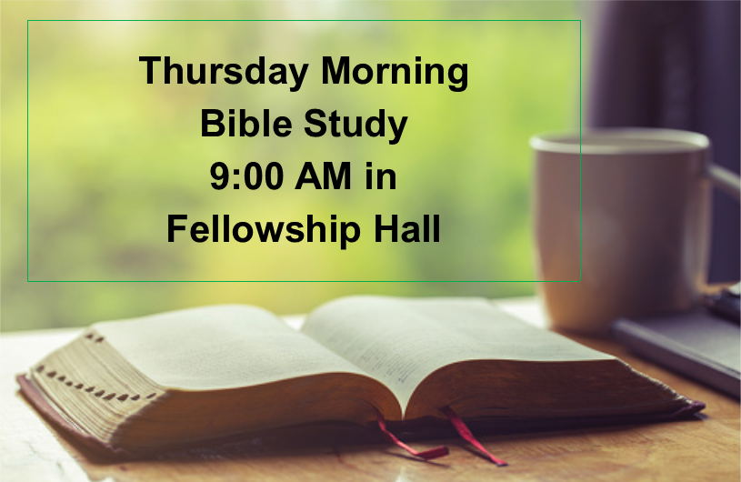 Thursday Morning Bible Study put in Senior Adult Page