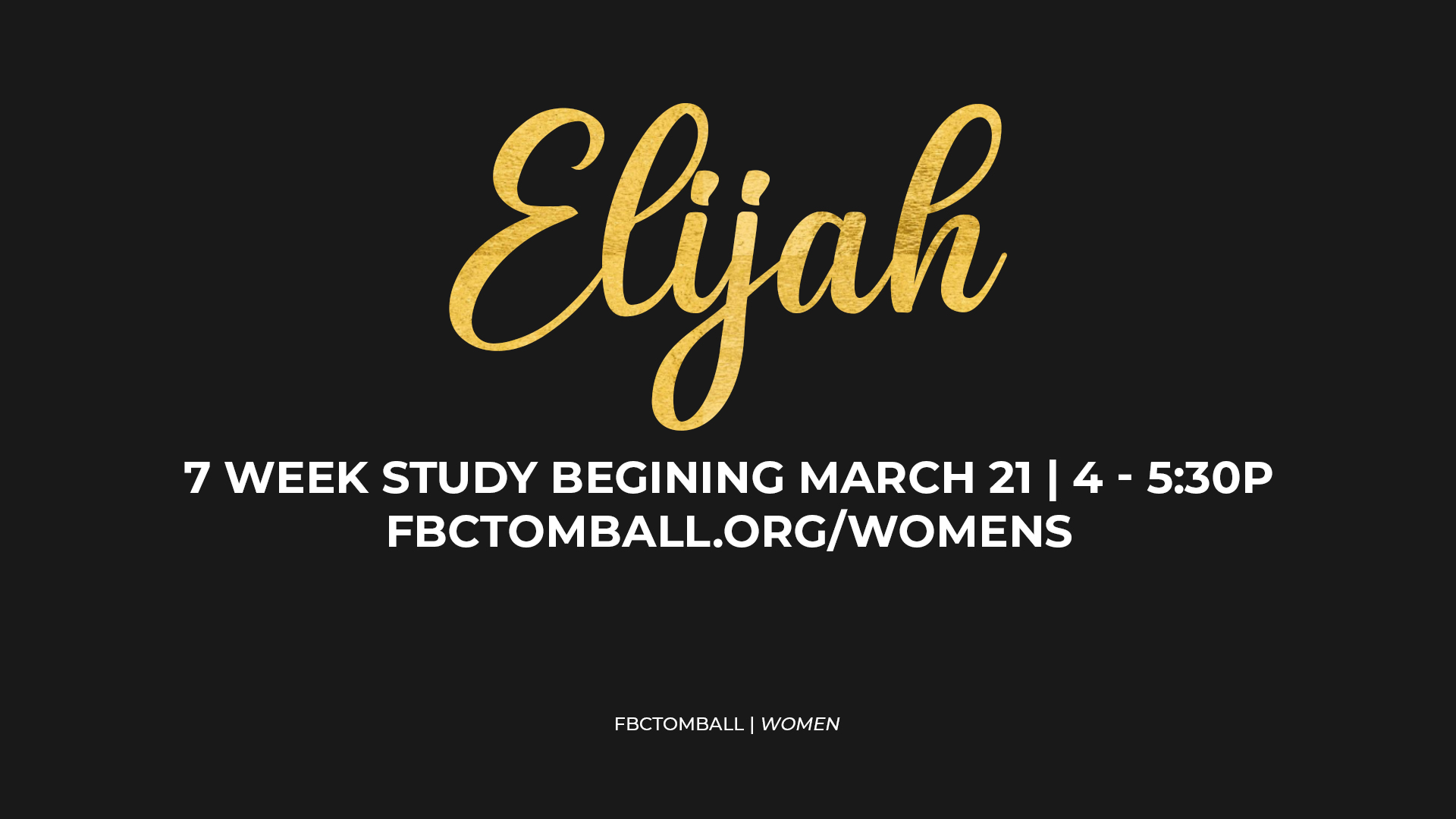 elijah study_sunday nights image