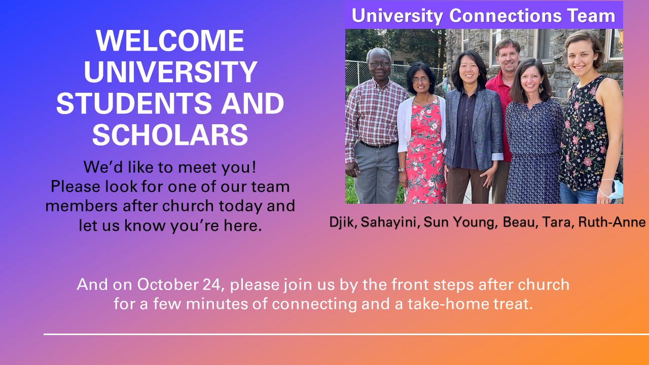 2021-10-06 Welcome university students and scholars
