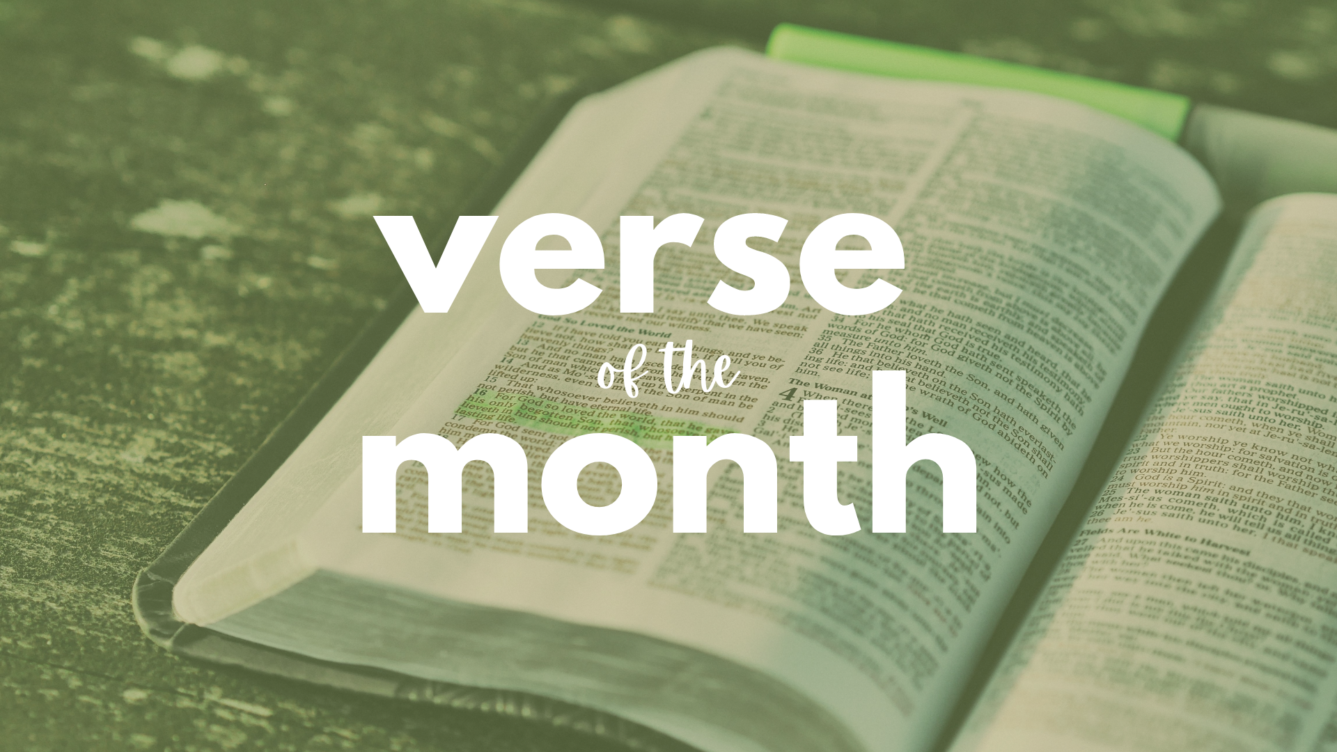 verse of the month kids corner blog