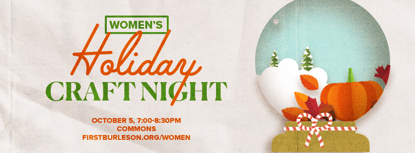 Women's Holiday Craft Night - Facebook Cover Image