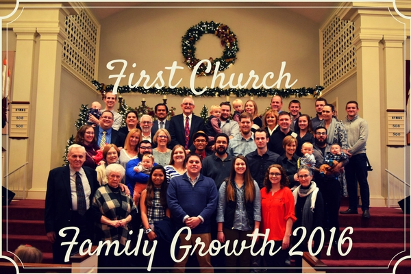 First Church New Members 2016