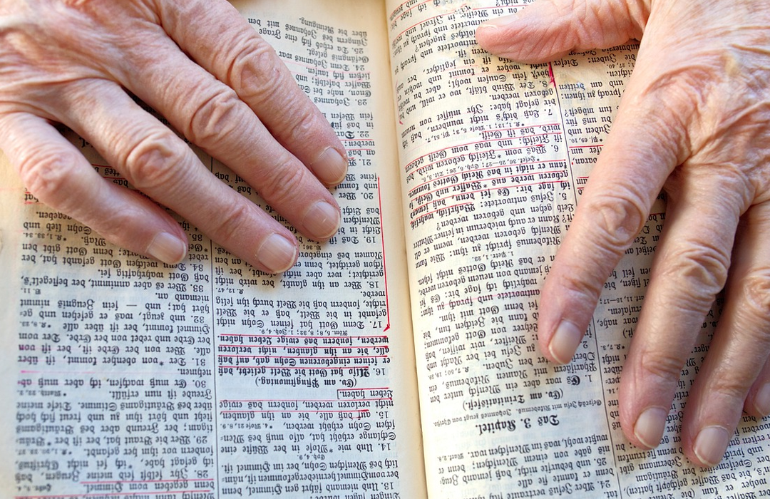 hands on Bible image