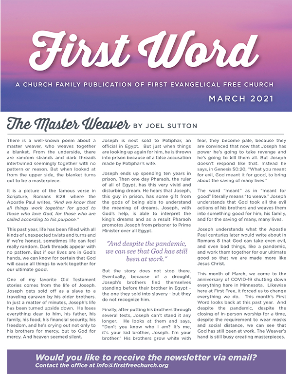 March Newsletter cover 2021