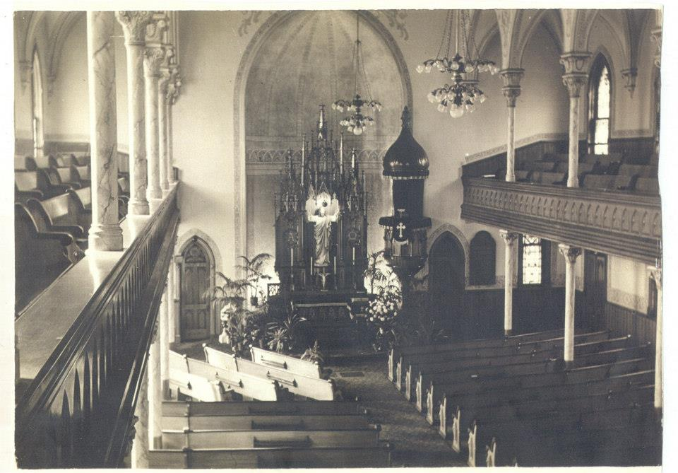 old front of sanctuary