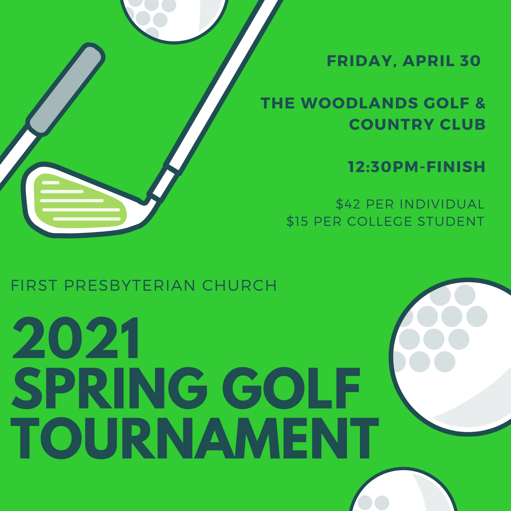 Spring Golf Tournament 2021