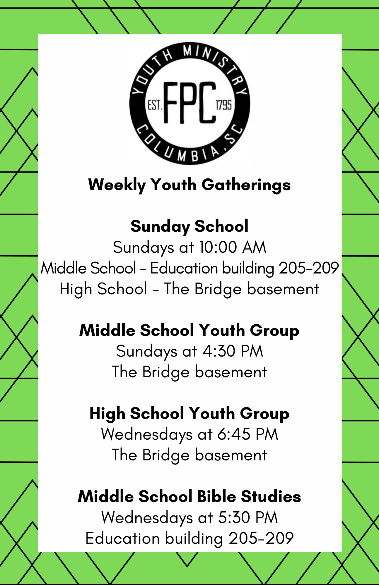 weekly youth graphic