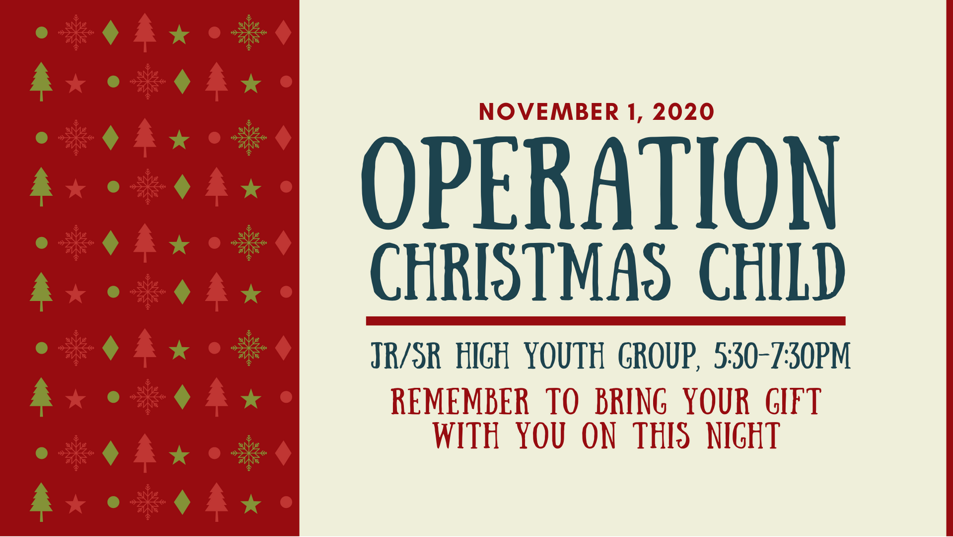 11.01.2020 Operation Christmas Child